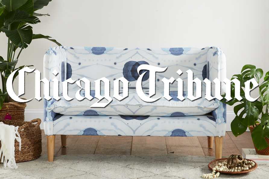 Meganne Wecker, third-generation leader of Skyline Furniture, introduces digitally printed fabric